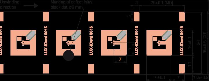 HF-inlay 14x14 Cu drawing