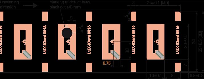 HF-inlay 20x10 Cu drawing