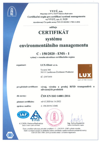 ISO 94001 certificate