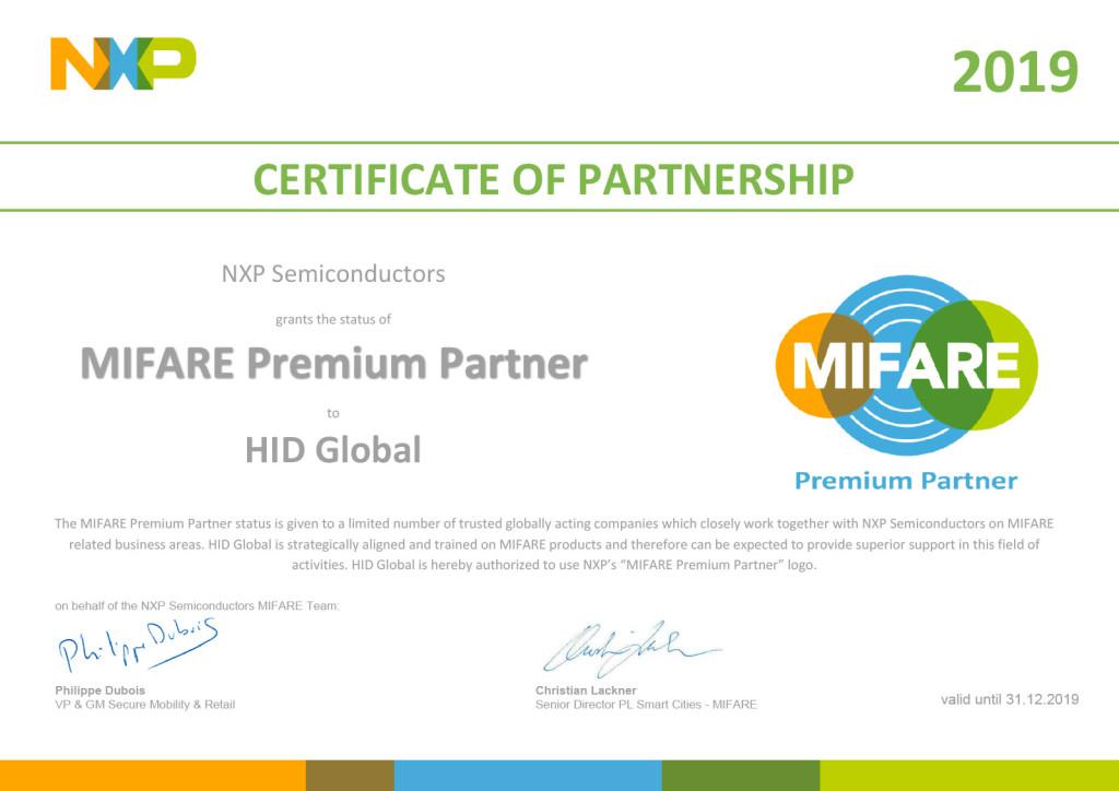 MIFARE-Premium-Partner-Certificate-HID-Global-2019